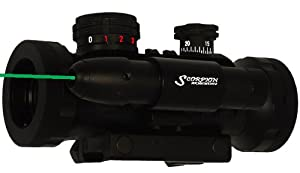 Scorpion Armaments Z49G 1x30mm Tri Illuminated Red/Green/BLUE Scope with Tactical Rails and <5mW Green Laser- Sold BY 22mods4all