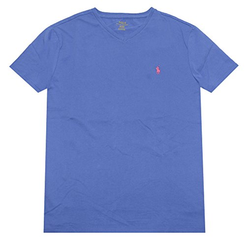 polo-ralph-lauren-mens-classic-fit-v-neck-t-shirt-large-blue-pink-pony