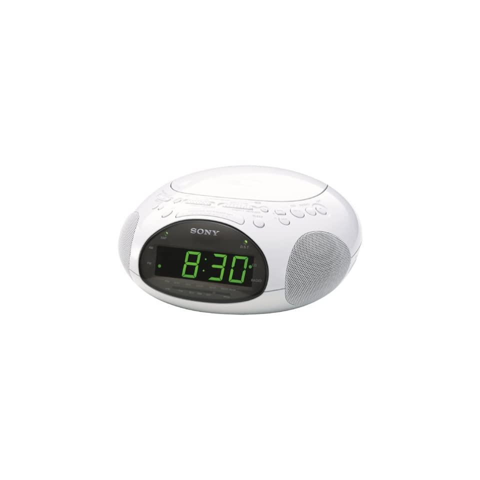 Sony ICF CD831 CD Clock Radio with FM/AM Radio and Extendable Snooze (White) (Discontinued by Manufacturer)