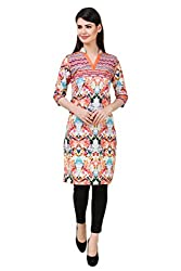 Kurti Collection pure cotton digitally printed designer wear ethnic kurti fabric material (Unstitched)
