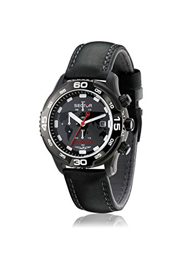 Sector Men's Mountain Adventure Black Leather calfskin Watch