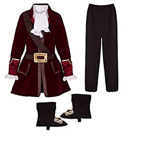 Pirate Costume Set Size Large L (10) for Boys age 8 - 9: Toys & Games
