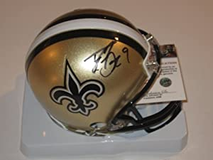 Drew Brees New Orleans Saints Signed Autographed Mini Helmet with Certificate of...