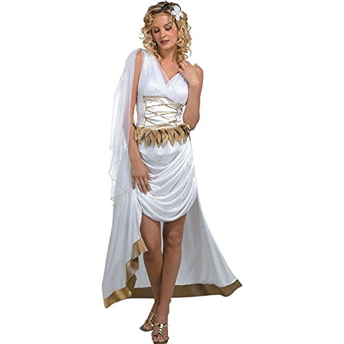 Sexy Adult Womens Costume Roman Greek Toga Outfit Womens U.S. M/L (Size 12-14)