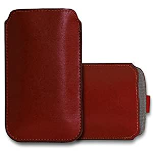 GBOS XIAOMI REDMI 1S Leather Pull Tab Case Cover Pouch Brown
