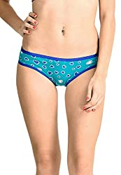 Lenora Printed Bikini Brief Hot (X-Large, Blue)