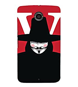 EPICCASE Vendetta Mobile Back Case Cover For Motorola Google Nexus 6 (Designer Case)