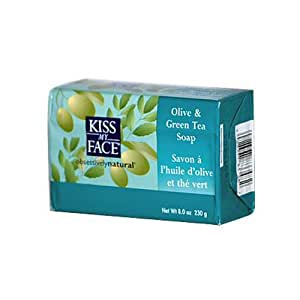 Kiss My Face Bar Soap Olive and Green Tea -- 8 oz