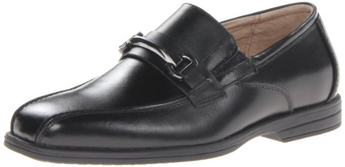 Florsheim Kids  Reveal JR Uniform Bit Ornament Slip-On (Little Kid/Big Kid), Black, 6.5 M US Big Kid