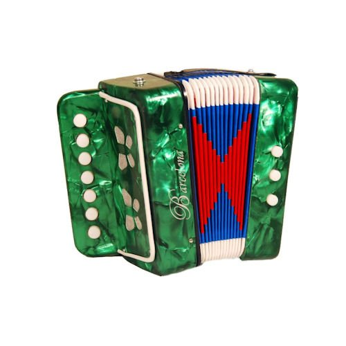 Barcelona Children's Toy Accordion - Green