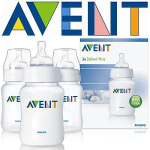 Philips Avent Airflex 260Ml 9Oz Pp Baby Feeding Bottles New Scf683/37 Pack Of 3 Great Gift For Baby Free Shipping Ship Worldwide