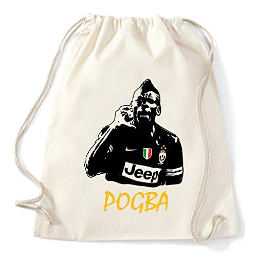 Art T-shirt, Zaino Sacca Paul Pogba Juventus, Natural
