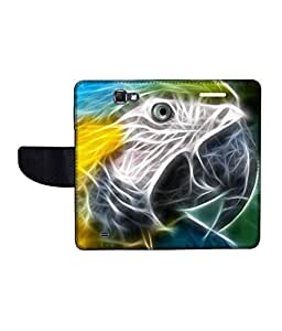 KolorEdge Printed Flip Cover For Samsung Galaxy Note 2 N7100 Multicolor - (55KeMlogo09838SamN7100)