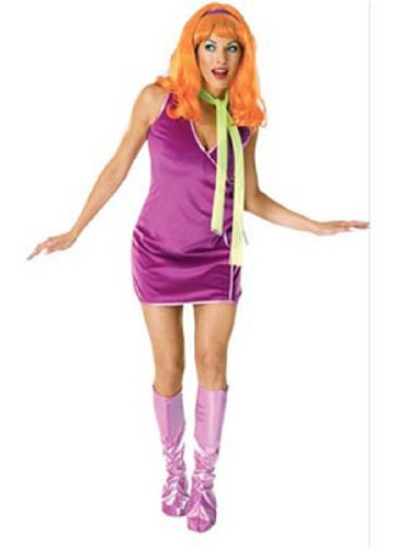 Scooby Doo Deluxe Daphne Costume, Purple, One Size
