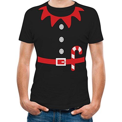 Teestars Men'S - Elf Suit T-Shirt X-Large Black