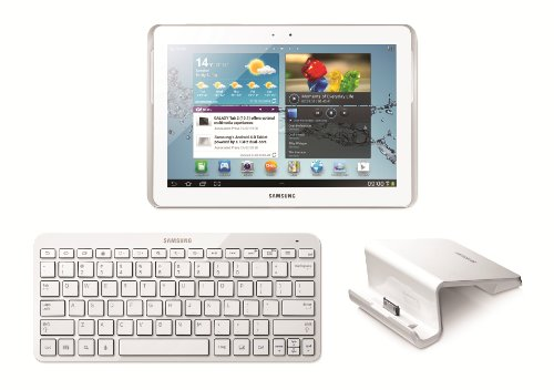 Samsung Galaxy Tab 2 Bundle: 10.1-Inch 16 GB Tablet (White), Bluetooth Keyboard and Desktop Dock