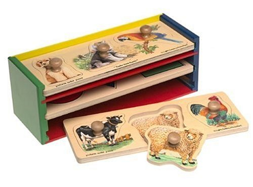 Cheap Toys Wooden Jumbo Knob Puzzles 3 Pack & Wooden Storage Case (B00006JZCQ)