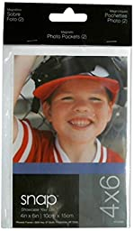 Snap Magnetic Photo Pockets 2-Pack, 4-Inch by 6-Inch