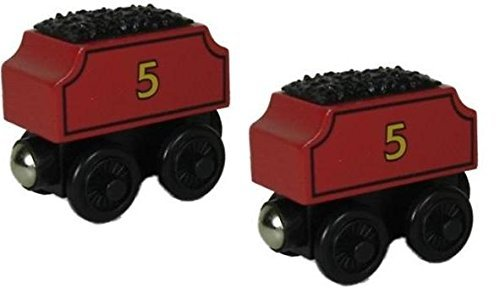 Thomas Wooden Railway Train - TWO James Tenders - Loose Brand New (Mr Kelly Car Wash compare prices)