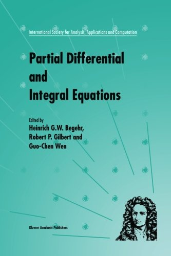 Partial Differential and Integral Equations (International Society for Analysis, Applications and Computation)
