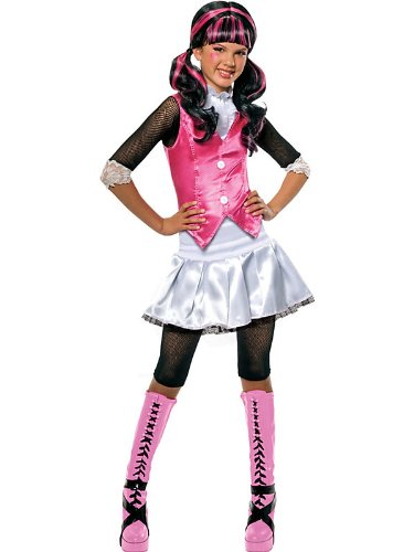 Girl's Monster High Draculaura Costume Bundle With Accessories ( SIZE M )