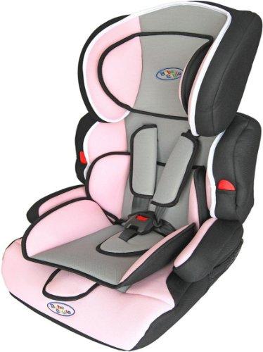 Bebe Style Seggiolino porta-bimbo per auto normative I / II / III classi di peso 9- 36 kg colore: Rosa. Gruppo 1+2+3 Bambino