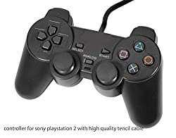 New World High Quality Tencil Wired Controller/Joystick For Sony PS2 (Black Color)