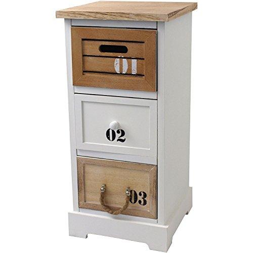 Maritimer-Schrank-Kommode-Schubladenschrank-30x30x645cm-Badschrank-Badezimmerschrank-Flurschrank-Nachttisch-Nachtschrank-Nachtkommode-Nachtkonsole-Schrnkchen-mit-3-Schubladen