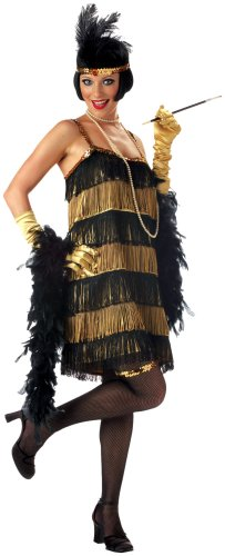California Costumes Women's Adult-Jazz Time Honey, Black/Gold, M (8-10) Costume