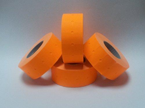 CT122mm x 12mm (aussi connu comme 21mm x 12mm) Price Gun étiquettes Orange fluo pelables-15Rouleaux/15000étiquettes