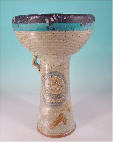 Ceramic Doumbek Goat Skin, Abstract Design Tie Dye Goat Skin