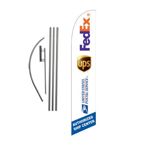 custom-ups-fedex-usps-ship-center-15ft-feather-banner-swooper-flag-kit-includes-15ft-pole-kit-w-grou