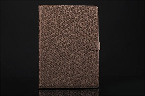 Apple Ipad Air 2 Case Borch Fashion Luxury Multi-Function Protective Crystal Series Leather Light-Weight Folding Flip Smart Case Cover For For Ipad Air 2 (Brown)