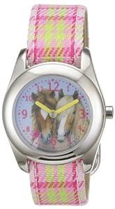 Die Spiegelburg 20289 - Reloj para niñas de cuarzo, correa de textil multicolor