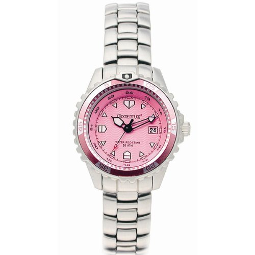 Ladies Momentum M1 Dive Watch Stel Strap - [Pink Face]