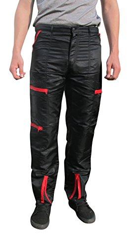 [BreakIN Shiny Nylon 80s Costume Parachute Pants (36 (35
