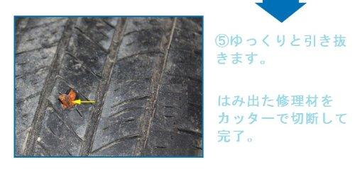 自動車 バイク対応! チューブレスタイヤ パンク修理キット 【コツ】を教えます!