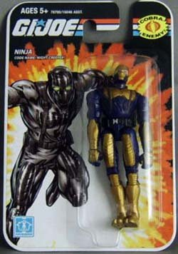 "GI Joe Real American Hero 3.75"" NIGHT-CREEPER Ninja Action Figure Wave 01 [Toy]"