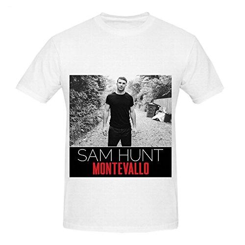 Sam Hunt Montevallo Soundtrack Album Mens Crew Neck Big Tall Shirts White