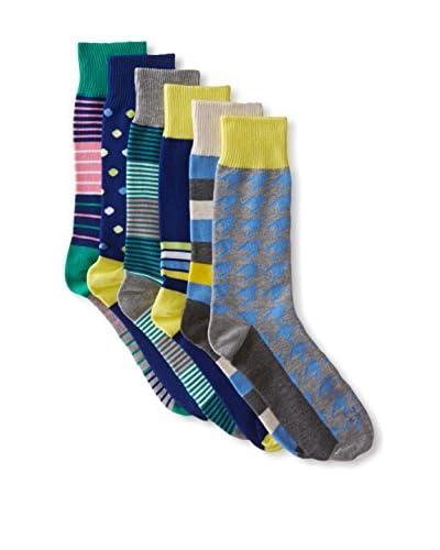 Funky Socks 30363H Men's Socks - 6 Pack, Assorted, One Size