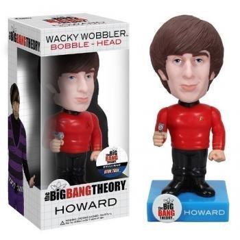"Howard ~6.5"" Bobble Head Figure: Big Bang Theory x Star Trek Wacky Wobbler Series"