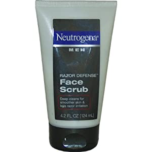 Neutrogena Men Razor Defense Face Scrub, 4.2 Ounce (Pack of 2)