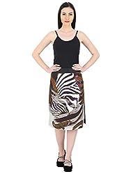 Woodin Multi Printed Regular Fit A Line Skirt for Women