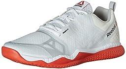 Reebok Men\'s Zprint Train Training Shoe, White/Atomic Red/Steel/Black, 9 M US