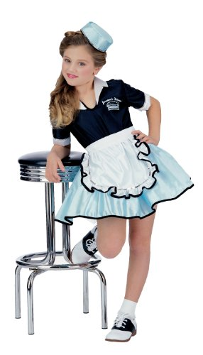 Rubies 50S Favorite Girls Car Hop Costume, Small (Ages 3 To 4) front-1060468