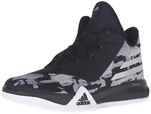 adidas Performance Men's Light Em up 2 Basketball Shoe, Black/Metallic Silver/Dark Shale, 9.5 M US (Shoes Basketball Men compare prices)
