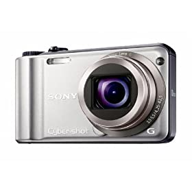 Sony Cyber-shot DSC-H55 14.1MP Digital Camera with 10x Wide Angle Optical Zoom with SteadyShot Image Stabilization and 3.0 inch LCD (Silver)
