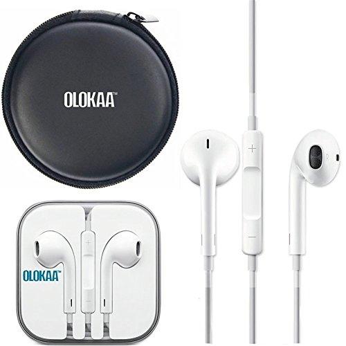 100% Genuine Original Apple Earpods with Olokaa (TM)brand Headphone Case Image