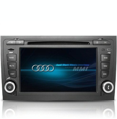 Castar Audi A4(2002-2008) Double-Din DVD Player with In-Dash Navigation system(free map),Built-in Bluetooth and Radio with RDS,Support ipod