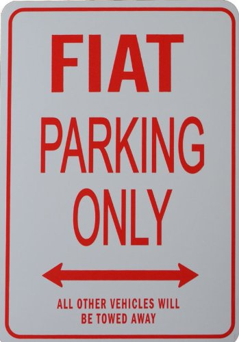 fiat-parking-only-sign